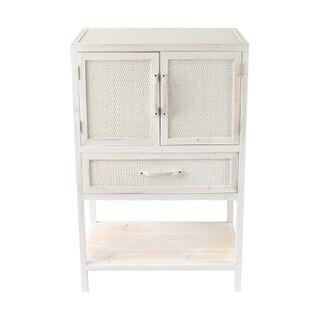Pella Rattan Whitewash Cabinet 53x36x92cm FU2407