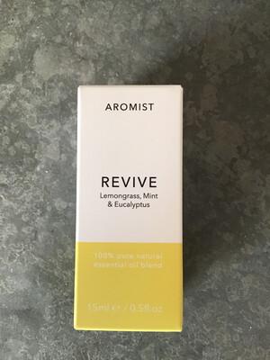 Aromist Natural Essential Oil 15ml - Revive ~ Lemongrass, Mint & Eucalyptus