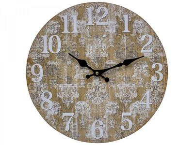 Clock Beige Paisley Vintage Motif 34cm LC9851