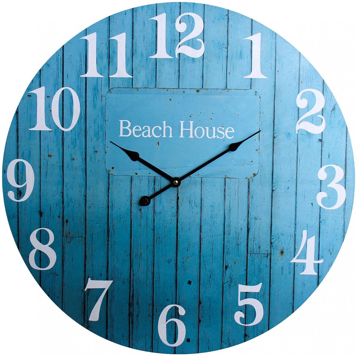 Blue Beach House Clock 58cm LC9771-1