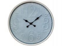 Glass Grey Metal Pressed Clock With Cream Metal Edge 60cm LC9833