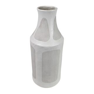 Sahara Ceramic Vase White/Grey 14x37cm OD2879