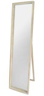 Rectangle Natural Wood Deep Rim Mirror 40x170cm FU2123