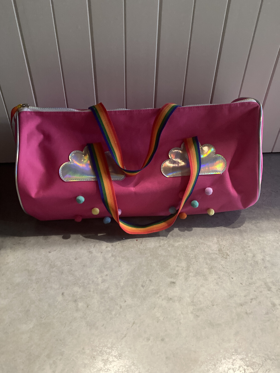 Pink Poppy Pink Duffle Travel Bag