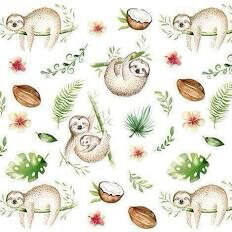 Sloth Napkins 3 Ply 20 Pack