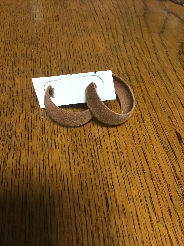 Brown Velvet Earring