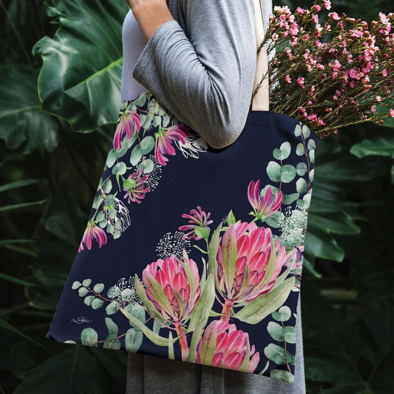 Lisa Pollock Linen/Poly Shopping Tote - Blush Beauty