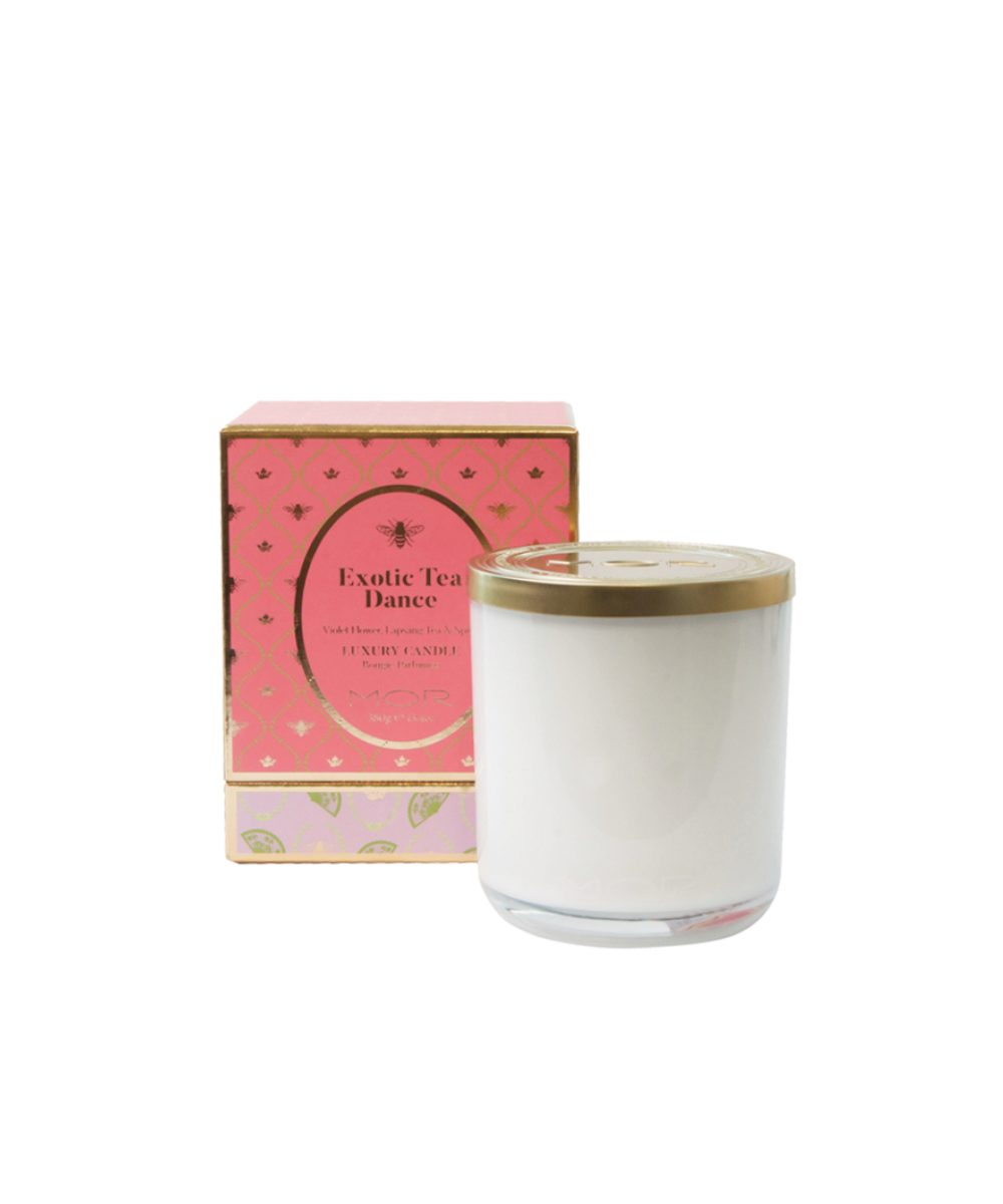 MOR Exotic Tea Dance Luxury Candle - Violet Flower, Lapsang Tea And Spice