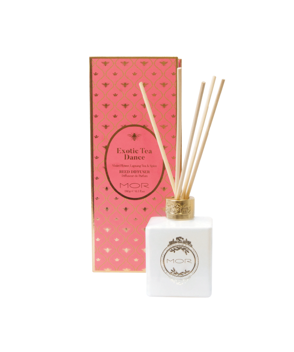 MOR Exotic Tea Dance Reed Diffuser 180ml - Violet Flower, Lapsang Tea And Spice