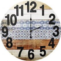 Clock Mixed Media Raised Numbers 58cm LC9602-2