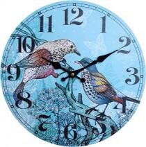 Clock Twin Birds 34cm LC9750
