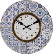 Clock Moroccan Blue LC9555