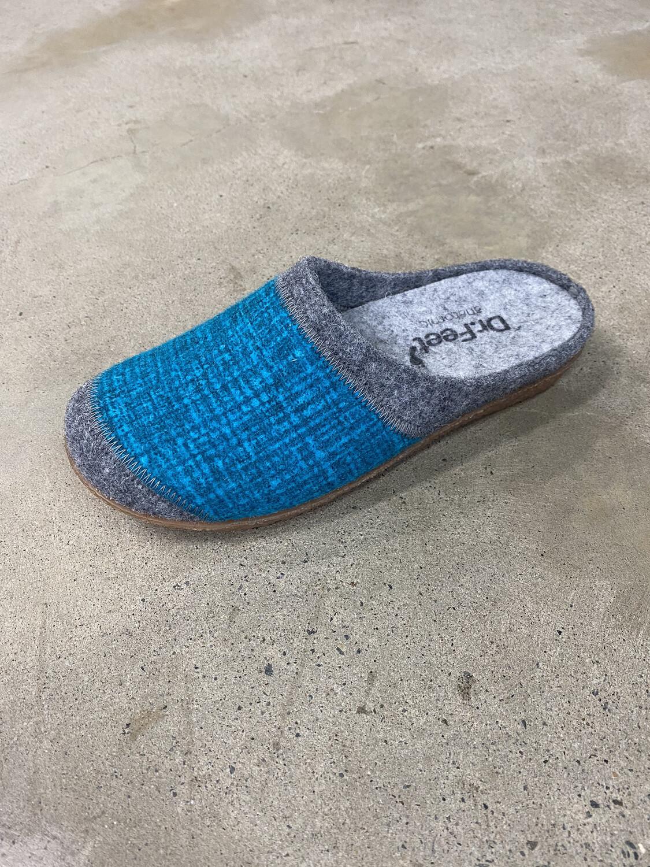 Dr Feet Slippers Sandy Teal