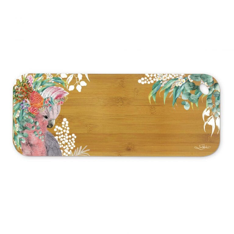 Lisa Pollock Bamboo Medium Serving Platter - Native Galah