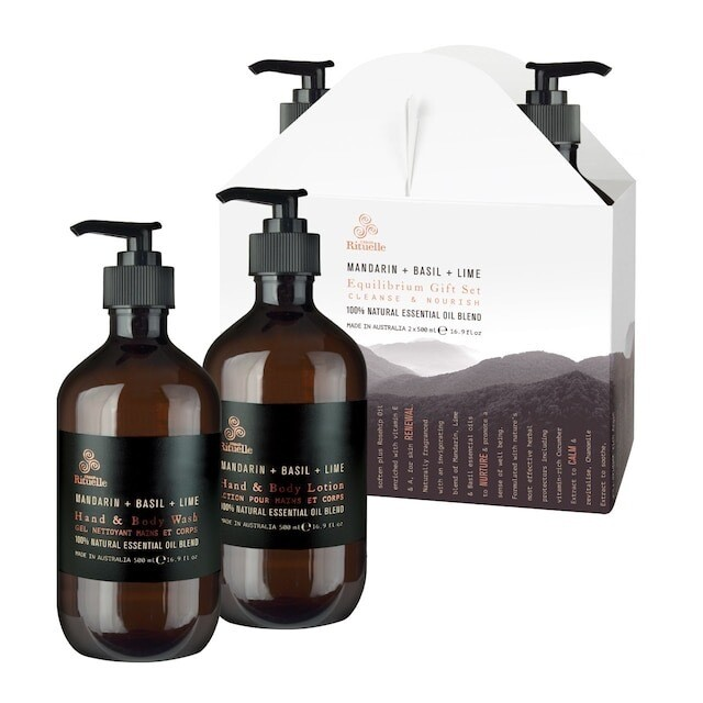 Urban Rituelle Gift Set Cleanse And Nourish - Mandarin, Basil And Lime Hand And Body Wash 500ml + Hand And Body Lotion 500ml
