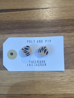 Poly And Pip Small Stud Earrings