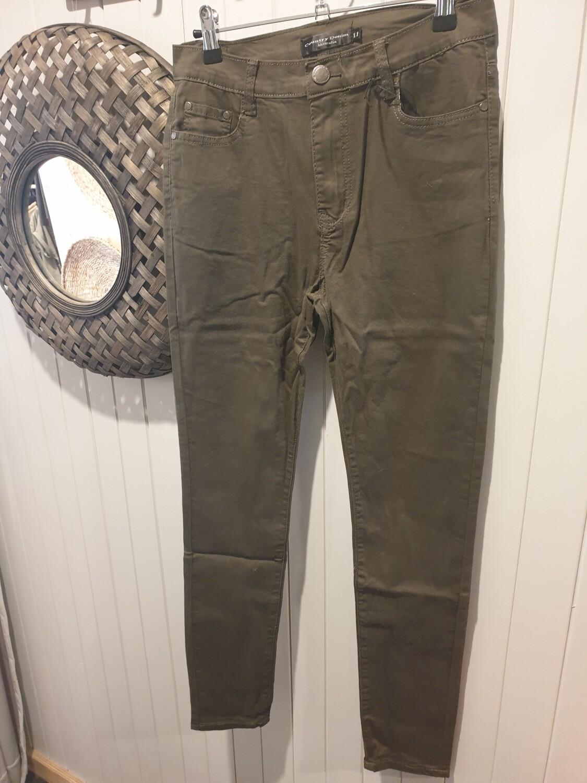 Country Denim Khaki Stretch Slim Jeans CGJ1136