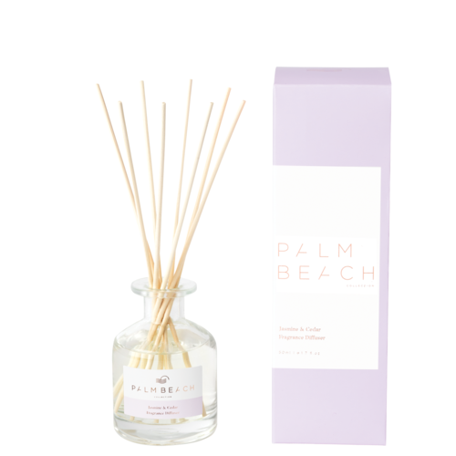 Palm Beach Mini Diffuser 50ml Up to 1.5 Months Scent Life - Jasmine And Cedar