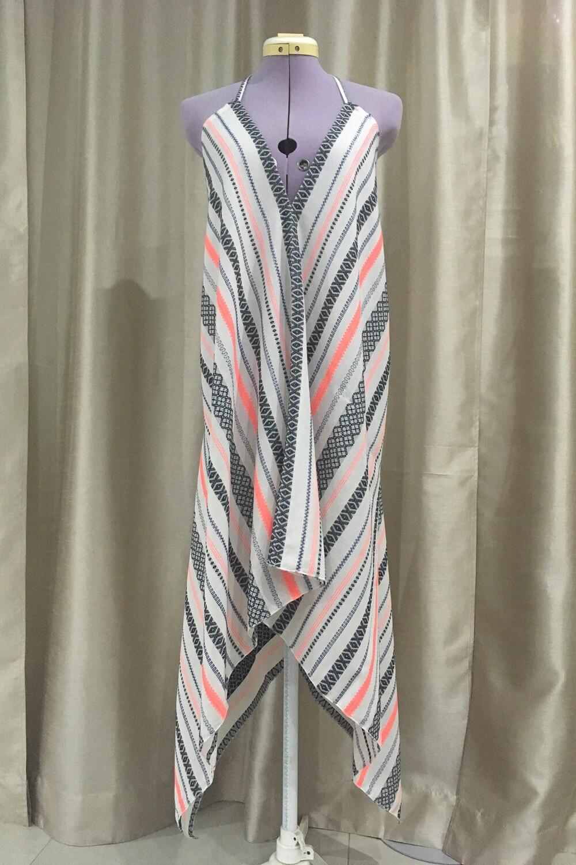 YAKAYA Damen Kleid Midi Neckholder Dress