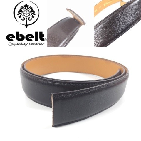 ebelt 男裝高級頭層牛皮淨皮帶 Top Grade Cow Full Grain Leather Belt Strap only 3.4cm - ebm0155S