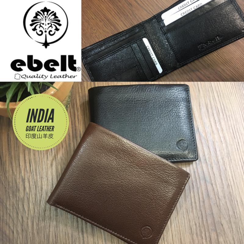 ebelt 印度製 頭層山羊皮銀包 India Full Grain Goat Leather Wallet - WM0122