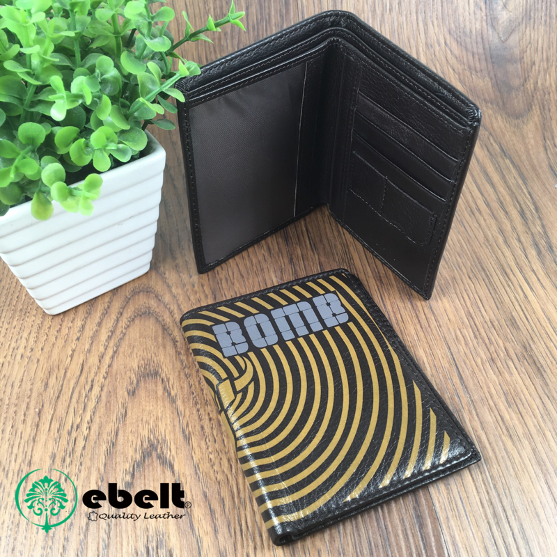 Bomb 頭層牛皮印花銀包 Top Grain Printed Leather Wallet - BW009