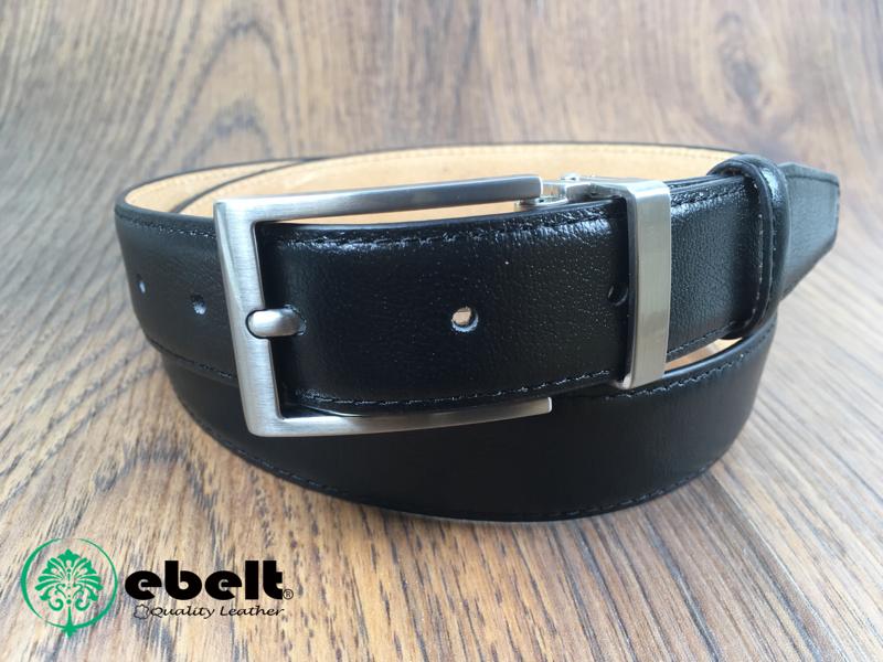 ebelt 男裝高級頭層牛皮皮帶 3cm Top Grade Cow Full Grain Leather Belt - ebm0154BLK