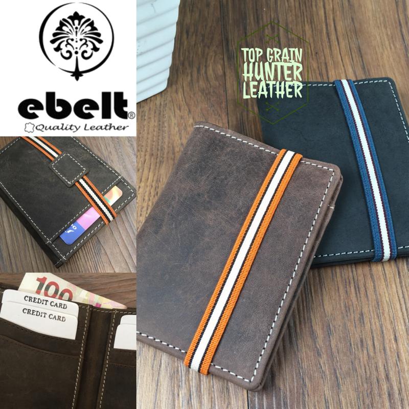 ebelt 印度製 頭層水牛獵人皮輕巧銀包 Full Grain Buffalo Hunter Series Leather Slim Wallet - WM0116