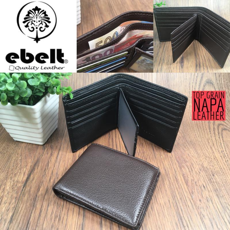 ebelt 頭層軟牛皮銀包(有内頁)Full Grain Cow Napa Leather Wallet - WM0129