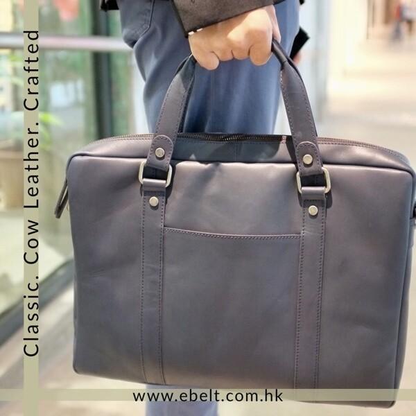 ebelt 頭層植鞣牛皮公事包 Vegetable tanned Cow Leather Briefcase BM007
