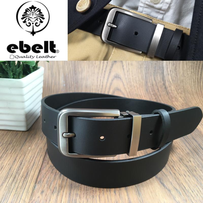 ebelt 男裝皮帶 -頭層水牛皮皮帶 BUFFALO LEATHER BELT 3.4cm- ebc0323C