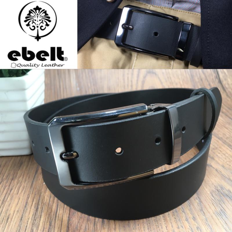 ebelt 男裝皮帶 -頭層水牛皮皮帶 BUFFALO LEATHER BELT 3.4cm- ebc0323F