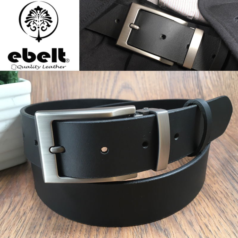 ebelt 男裝皮帶 -頭層水牛皮皮帶 BUFFALO LEATHER BELT 3.4cm- ebc0323G