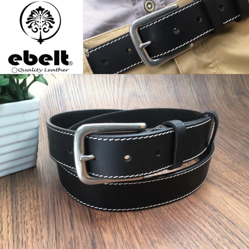 ebelt 頭層油蠟牛皮皮帶銅扣 Top Grain Wax Cow Leather Belt 3.4cm Solid Brass Buckle  - ebc0306