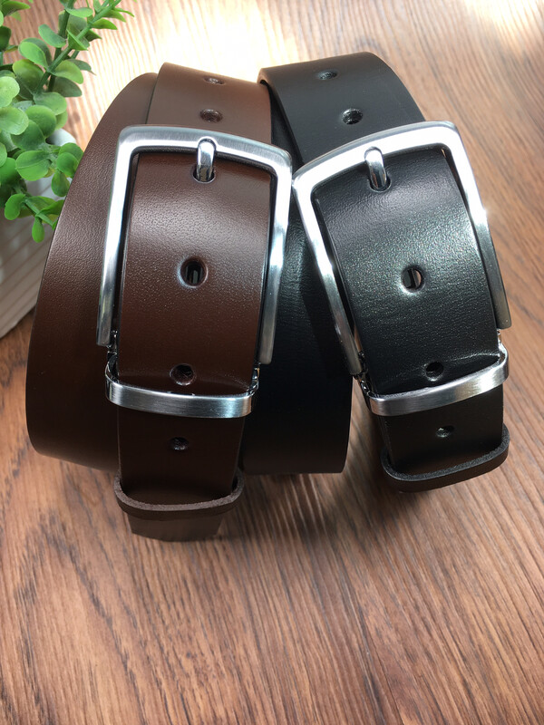 ebelt 頭層意大利頭層牛皮皮帶 Full Grain Italian Cow Leather Belt 3.4cm - ebc0325