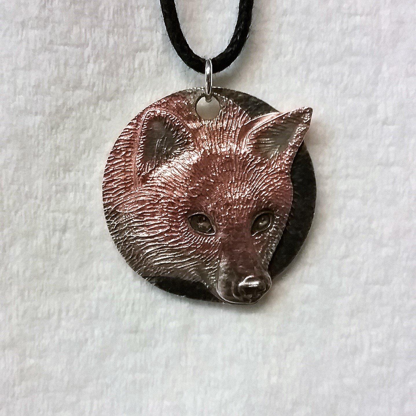 Harper Asprey Wildlife Rescue Fox pendant Copper plated