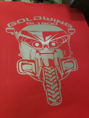 Front facing Goldwing logo T- shirt in reflective.