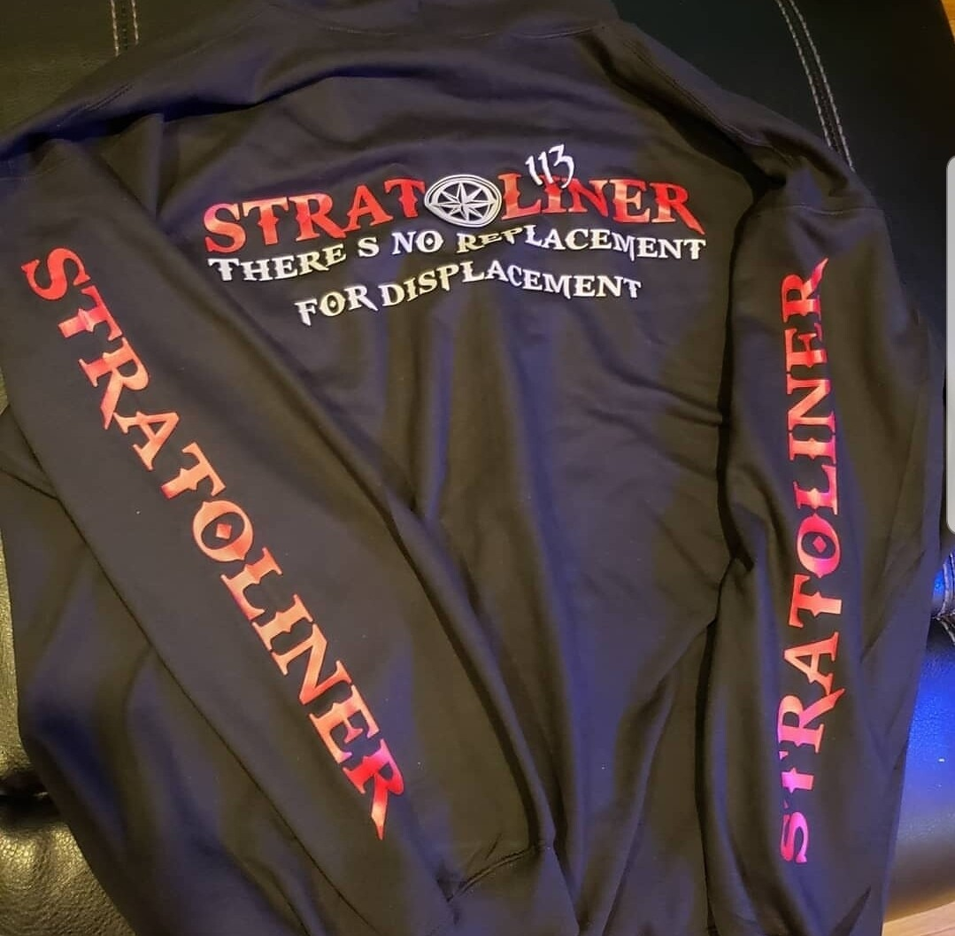 Roadliner or Stratoliner long sleeve shirt W/ logo on sleeves