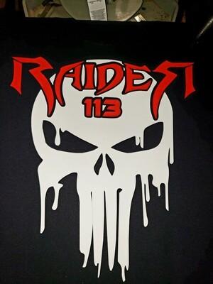 Yamaha Raider 113 punisher skull