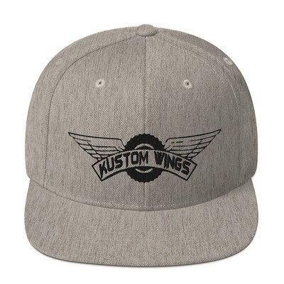 Kustom wings Snapback Hat Black Logo