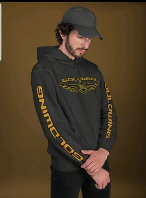 Black and gold Goldwing hoodie