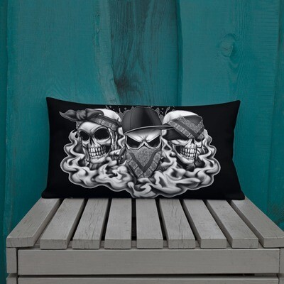 see no evil, hear no evil, speak no evil Premium Pillow