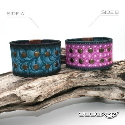 Seegarn Wende-Armband (Design M12 & M03)