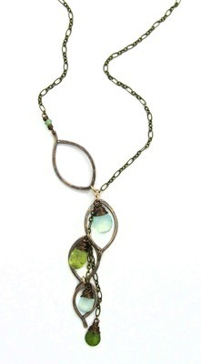 Chandelier Necklace - Bronze