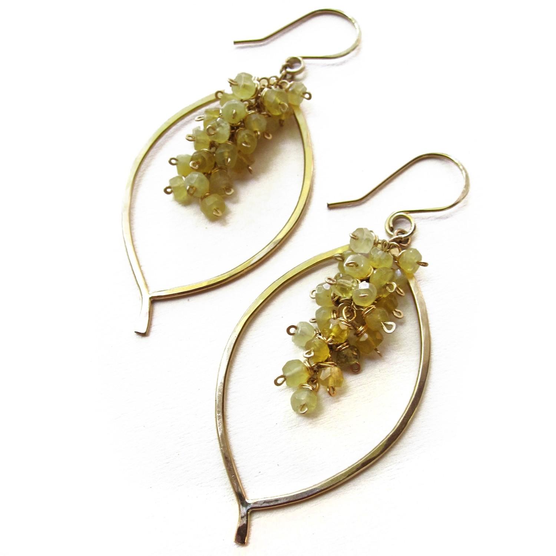 Leaf Chain Cluster Earring