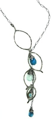 Chandelier Necklace - Oxidized Silver