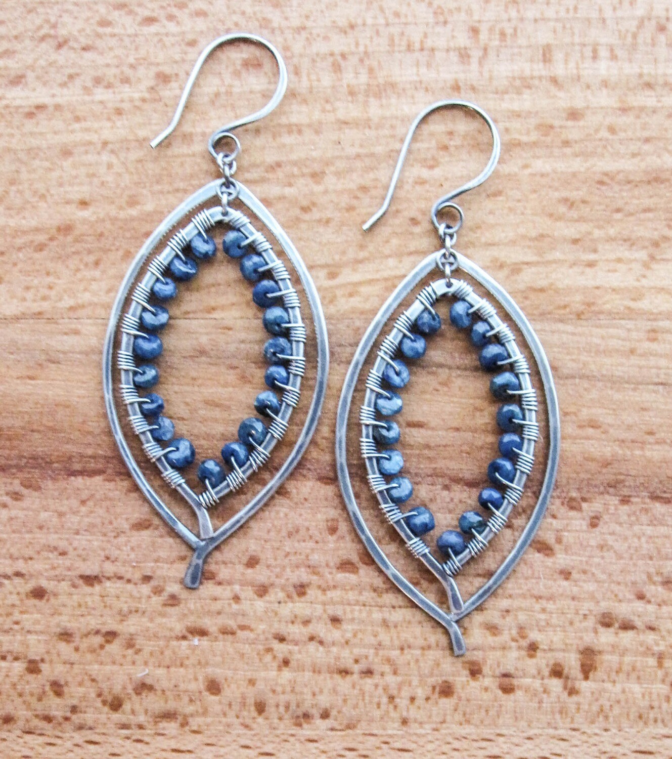 Double Leaf Earring Wrapped