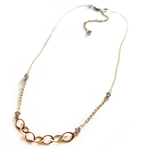 Petite Leaf Link Necklace- small