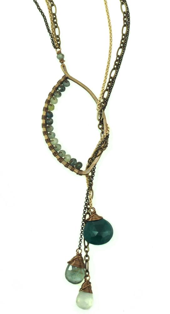 Lariat Necklace - Bronze
