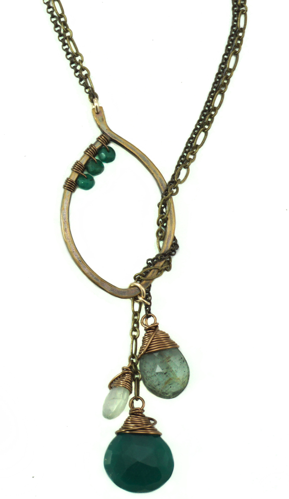 Leaf Lariat Small - Bronze